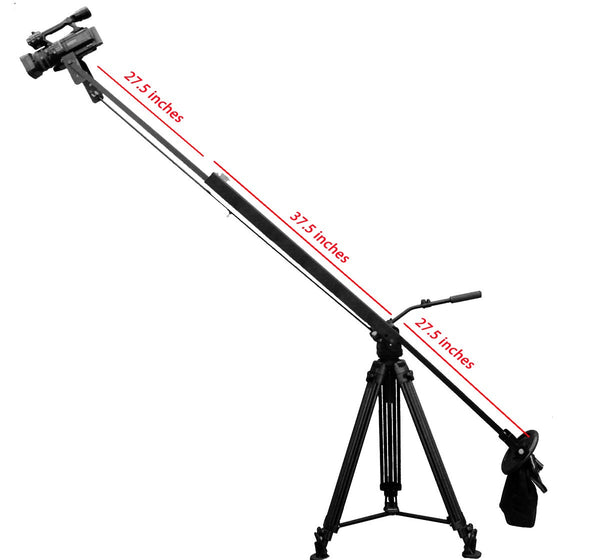 Dual arm telescoping jib w/ Cable operated Panning 3ft - 8 ft.