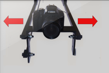 Load image into Gallery viewer, 8 foot Dual arm telescoping jib w/ Cable operated Panning 3ft - 8 ft.