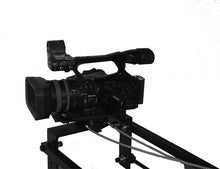Load image into Gallery viewer, 12 foot dual arm camera Jib with mechanical pan and tilt (cable operating Pan Head)