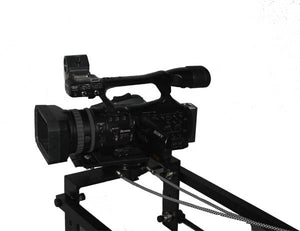 12 foot dual arm camera Jib with mechanical pan and tilt (cable operating Pan Head)
