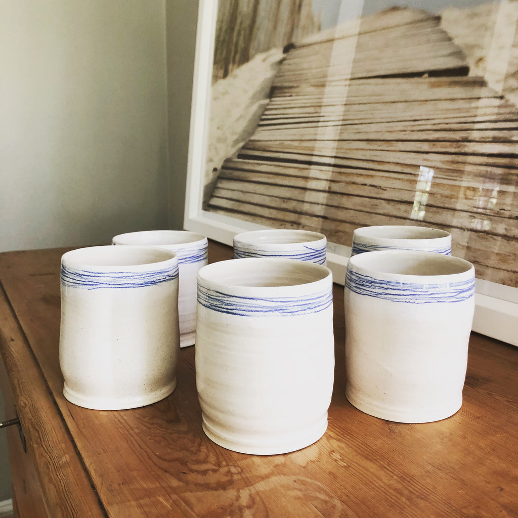 Ceramic Tumblers in Thread Design