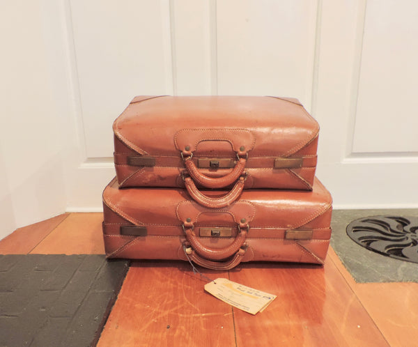 Set of vintage luggage