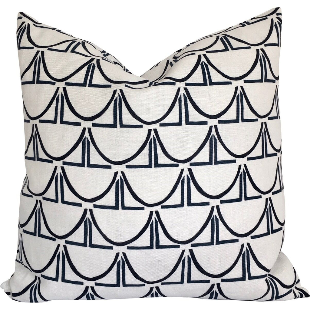 "Cecilia Walker pillows in exclusive ""Half Pipe"" Design"