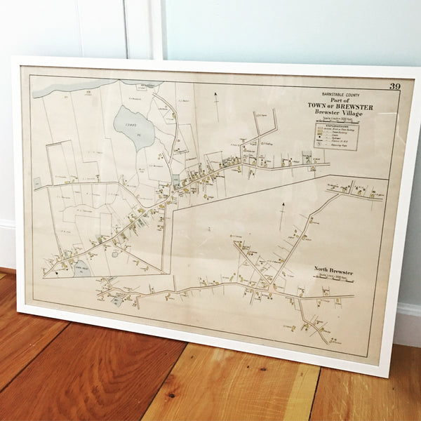 Vintage framed map