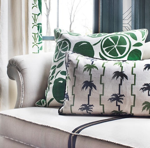 Cecilia Walker Bradley Road pillow in Green