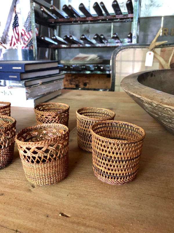 Vintage Rattan juice covers