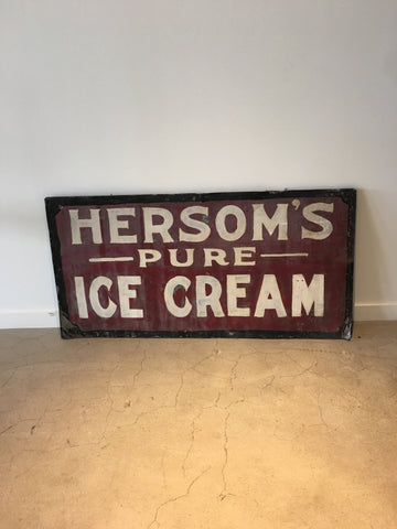 Antique Ice Cream Sign