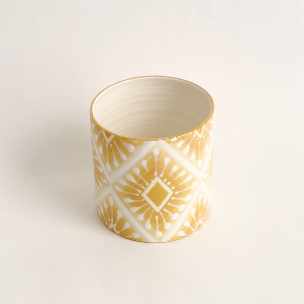 Jill Rosenwald Vase - Neil Diamond in Mustard