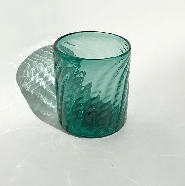 Hand Blown Glass - Hunter Herringbone