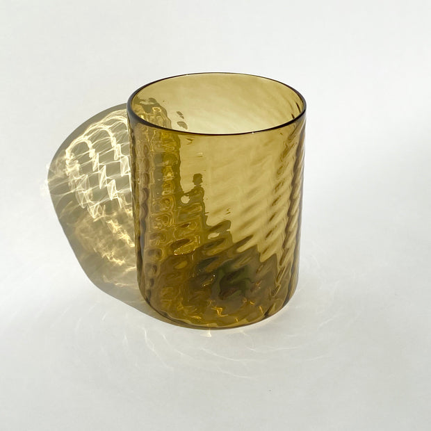 Hand Blown Glass - Topaz Herringbone