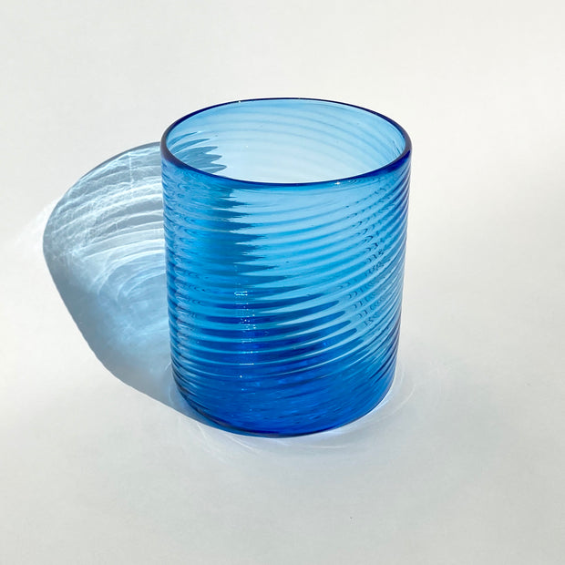Hand Blown Glass - Sapphire Ribbon