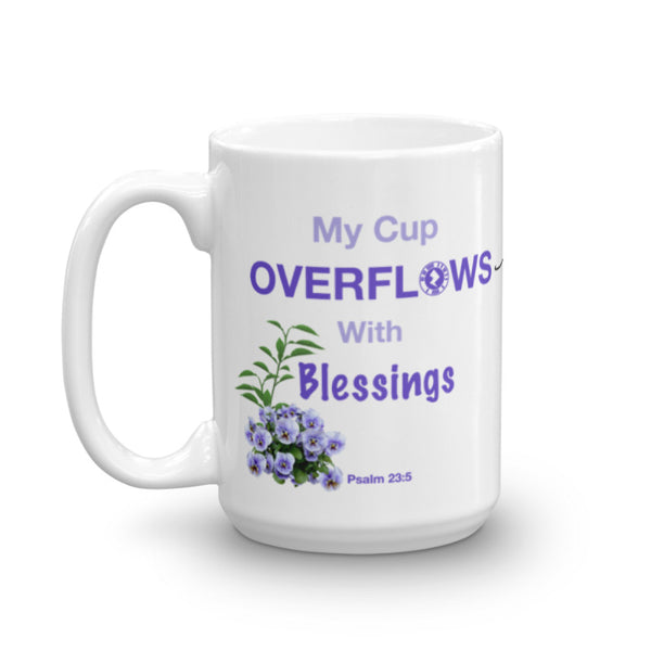 "Interacting Faith ""My Cup Overflows"" 15oz Mug"