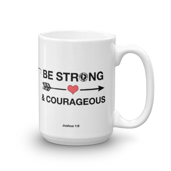 "Interacting Faith ""Be Strong"" 15oz Mug"