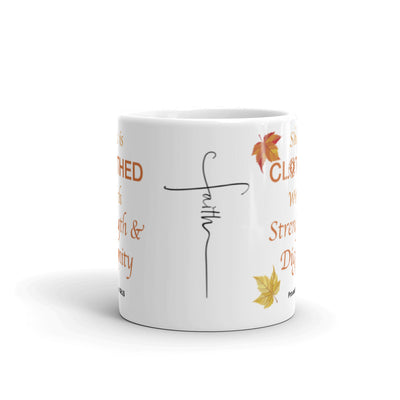 "Interacting Faith ""She Is Clothed"" Mug"