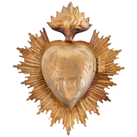 Sacred Heart ~ Antique Gold