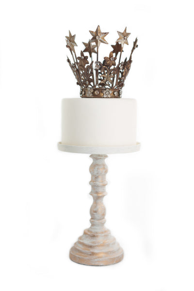 Gold Crown Cake Topper ~ Elizabeth small