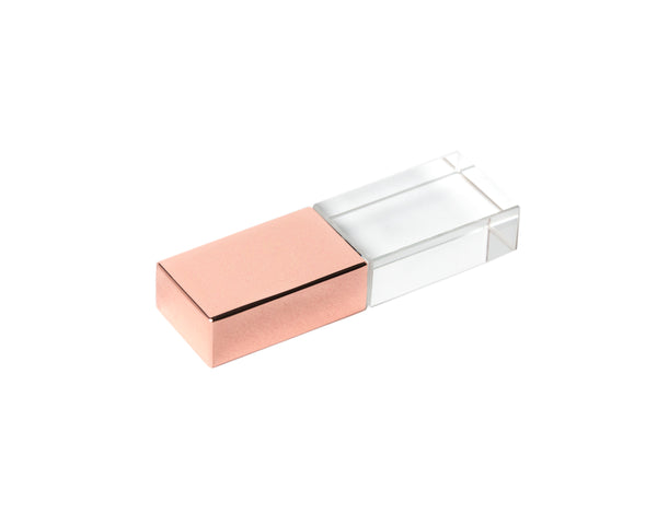 Cream Linen Box w/ Rose Gold USB