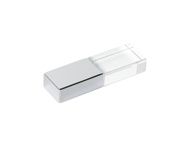 Gray Linen Box with Silver USB