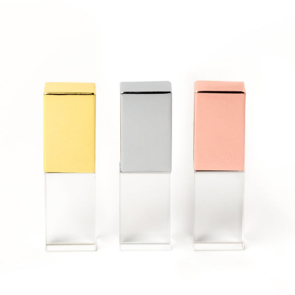USB Glass flash drive rose gold silver and gold 3.0 16GB