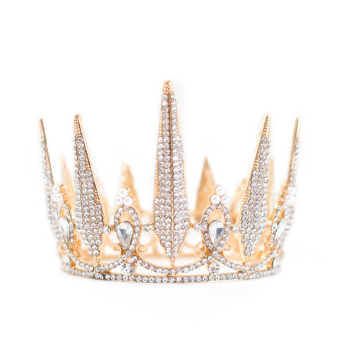 Rhinestone Crown ~ Gold