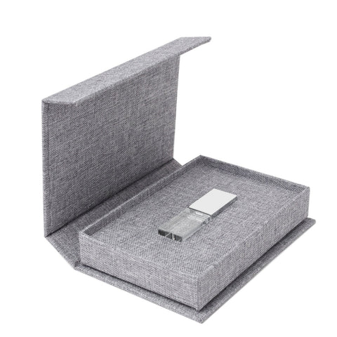 Gary Linen Box with Silver USB