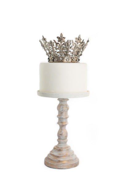 Silver Crown Cake Topper - Fiona