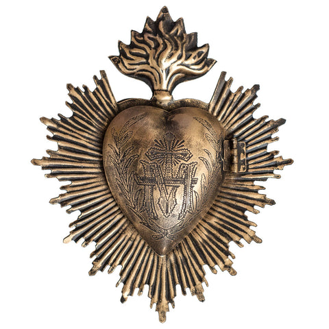 Sacred Heart ~ Black and Gold