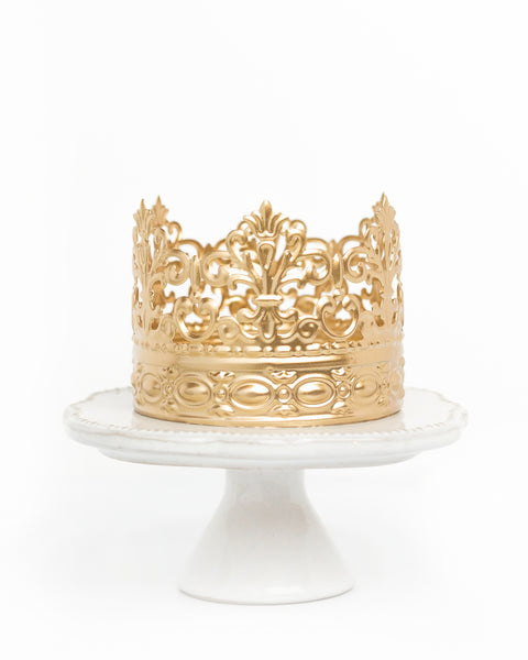 Gold Crown Cake Topper ~ Alice