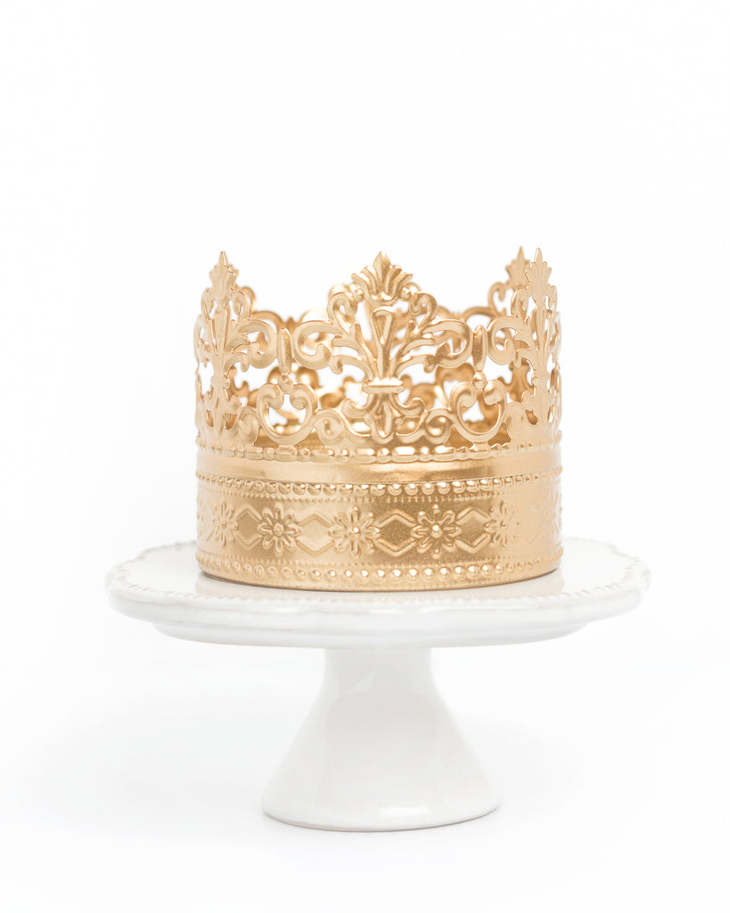 Gold Crown Cake Topper ~ Daisy