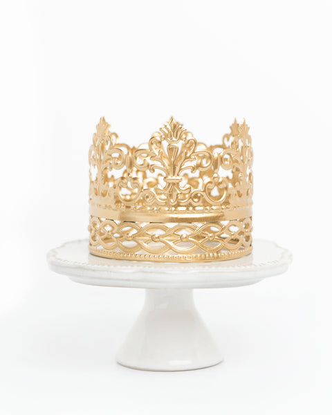 Gold Crown Cake Topper ~ Ivy