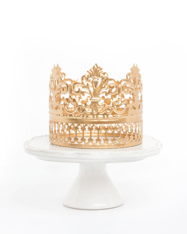 Gold Crown Cake Topper ~ Willow