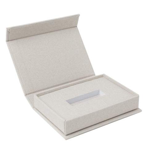 linen cream USB box