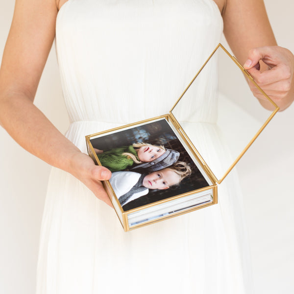 Glass photo box, 5x7 proof box
