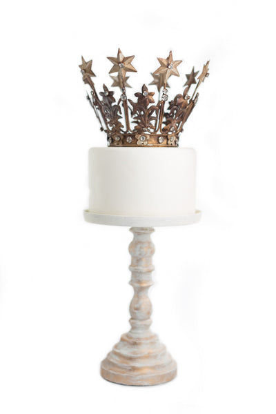 Gold Crown Cake Topper ~ Elizabeth medium
