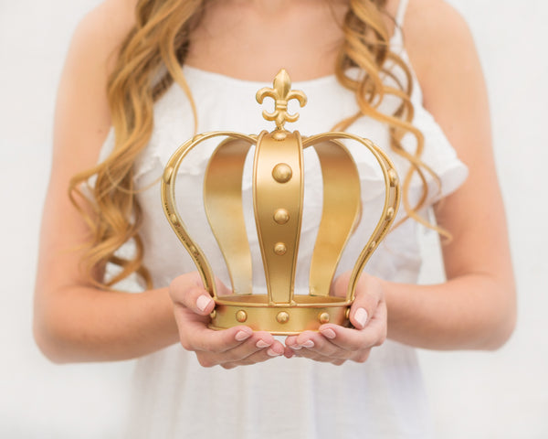 Gold Crown Cake Topper ~ Sophia