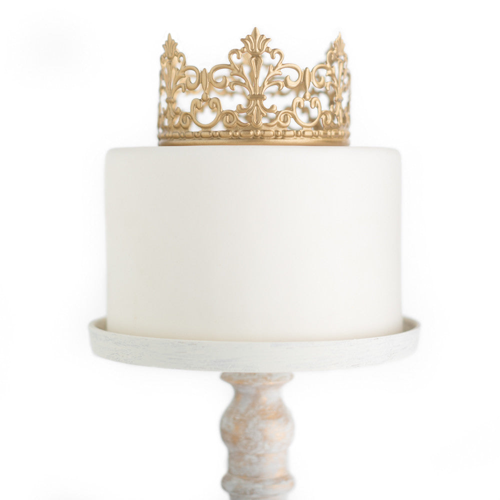 Gold Crown Cake Topper ~ Jane – The Queen of Crowns