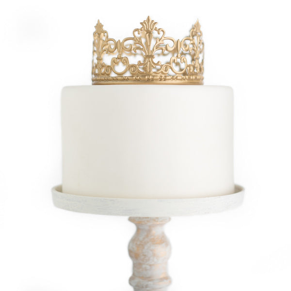 Gold Crown Cake Topper ~ Jane