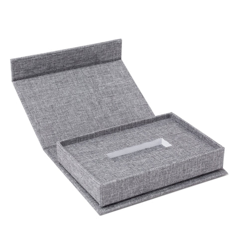 Gray Linen USB Box