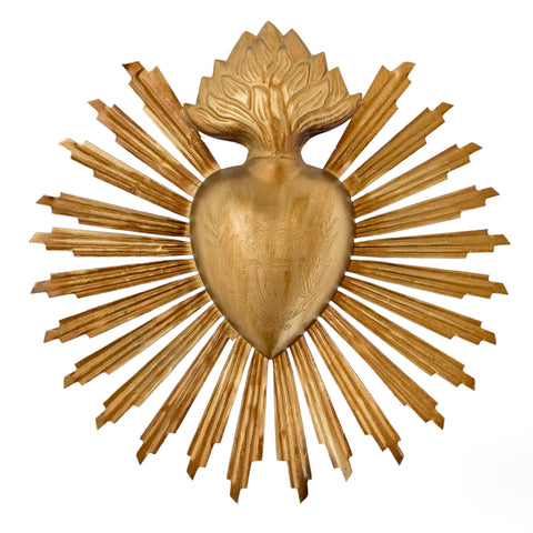 Sunburst Sacred Heart ~ Gold