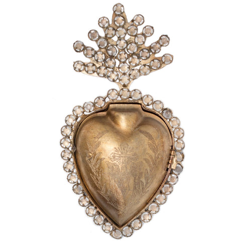 Sacred Heart with Crystals