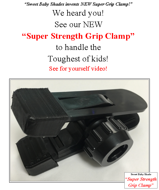 "Sweet Baby Shade invents NEW ""Super Strength Grip Clamp!"""