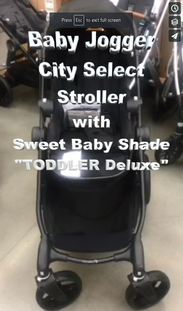 "Sweet Baby Shade TODDLER~Deluxe on the ""Baby Jogger City Select"" stroller!"