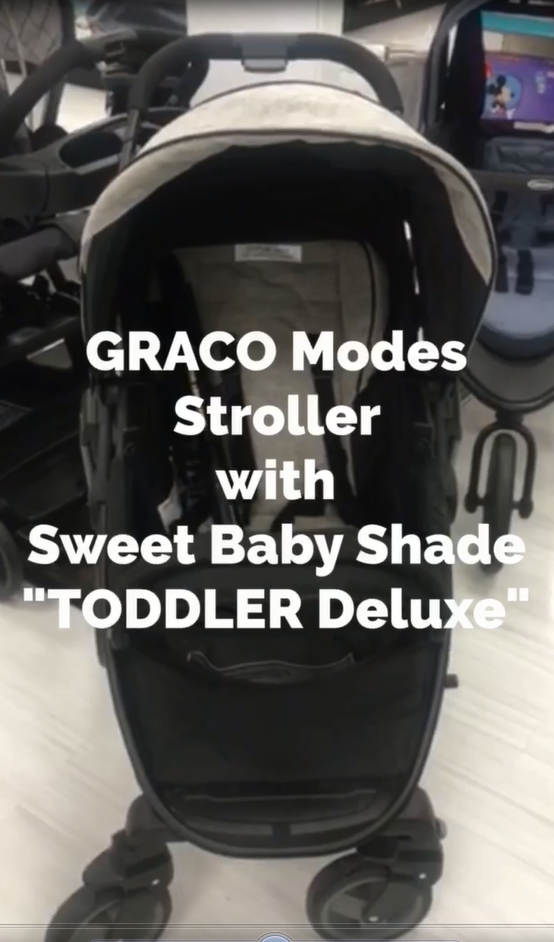 "Sweet Baby Shade TODDLER~Deluxe on the ""GRACO Modes Click Connect"" stroller from @Gracobaby!"