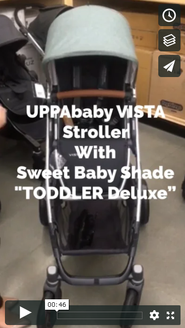 "Sweet Baby Shade TODDLER~Deluxe on the ""UPPAbaby Vista"" stroller from @UPPababy!"