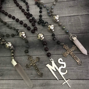 The Goth Rosary in Labradorite