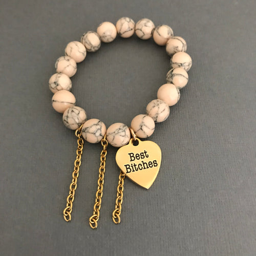 The BB Bracelet in Oatmeal Marble