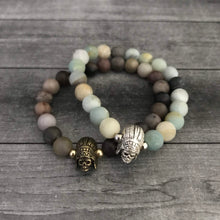 Load image into Gallery viewer, The Native Skull Bracelet in Wood Jasper