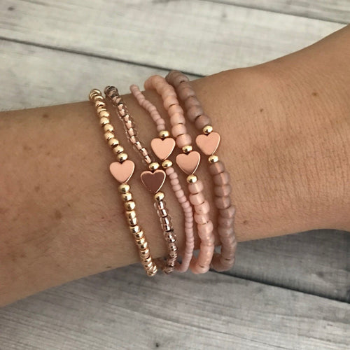 The OG Rose Gold Teeny Stack