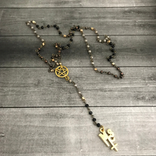 Load image into Gallery viewer, The Pagan Rosary in Gold