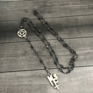 The Pagan Rosary in Silver